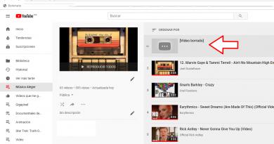 Vídeos borrados por Youtube, como saber cual era?