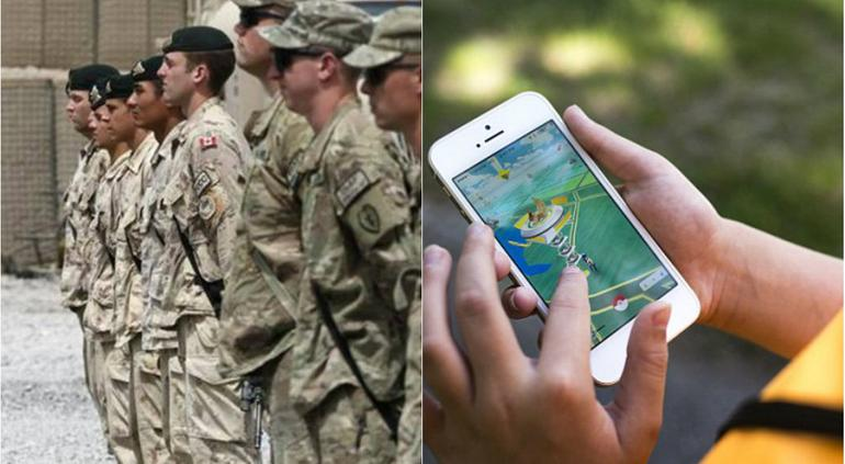 Pokemon Go y Militares Canadienses